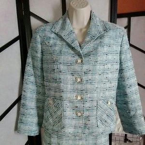 Jana Kos Skirt Suit Tweed Look